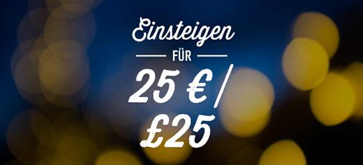 25 euro einsteigen