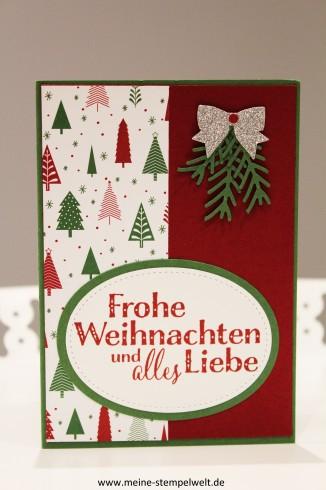 Stampin Up Weihnachtskarte Meine Stempelwelt