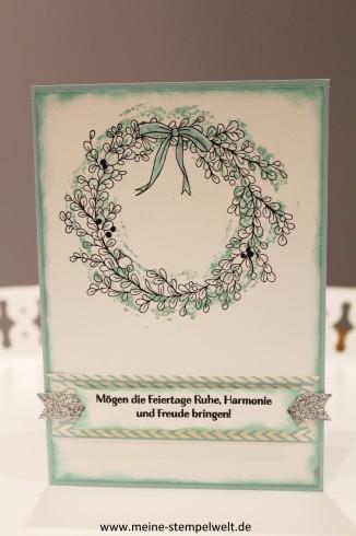 Harmonische Feiertage Weihnachtskarte Stampin Up Meine Stempelwelt